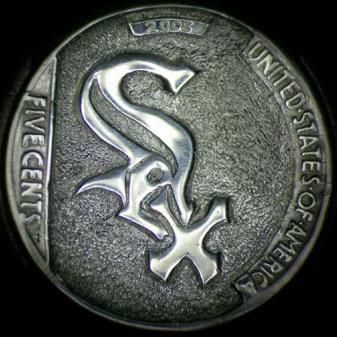 Hobo Nickel Engraved With SOX, Representing The Chicago White Sox