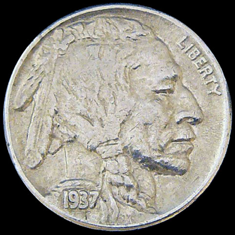 Buffalo Nickel - Other View Of Dusty And Digger Sweet Dreams Hobo Nickel