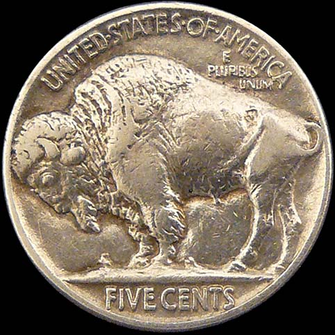 Buffalo Nickel - Other View Of Flat Top
