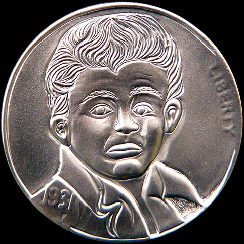 Hobo Nickel Engraved With James Dean