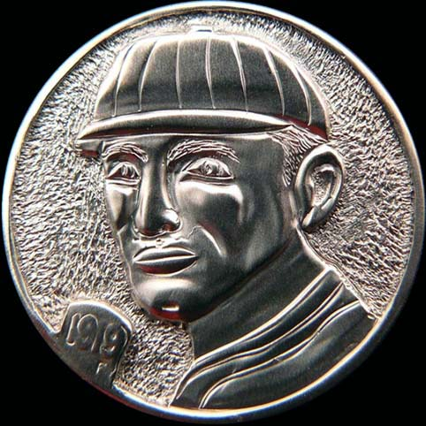 Hobo Nickel Engraved With A Man Wearing A Baseball Cap, Shoeless Joe Jackson