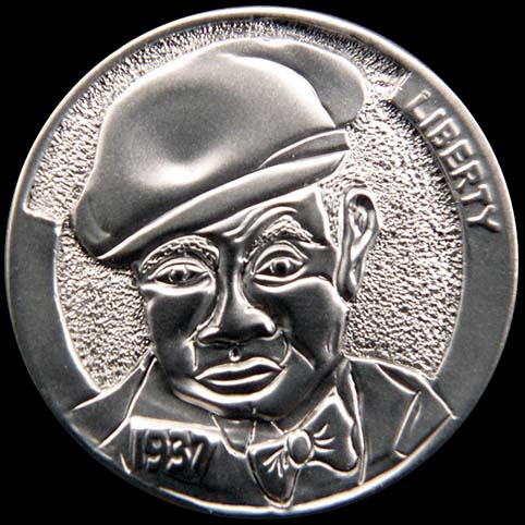 Sid Is A Man Wearing A Hat Engraved On A Nickel