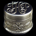 Figure Eight Flower Engraved Fly Rod End Cap