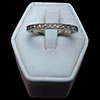 14 Karat White Gold Engraved Scroll Band