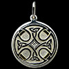 Sterling Silver & 24K Gold Celtic Cross Pendant With Diamond