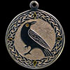 Sterling Silver & 24 Karat Yellow Gold Celtic Crow Pendant